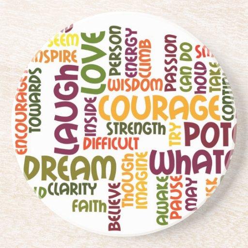 Motivational Words #1 Sandstone Coaster