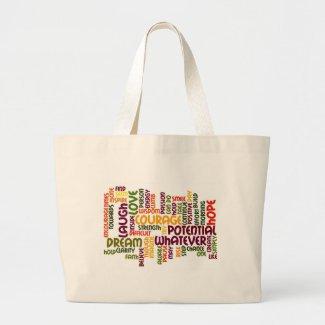 Motivational Words #1 tote bag bag