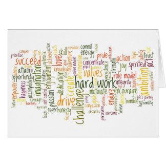 Motivational Words 2 birthday card