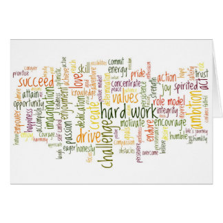 Motivational Words 2 blank notelet card