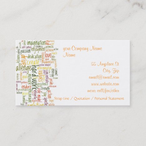 Motivational Words #2 Business Card