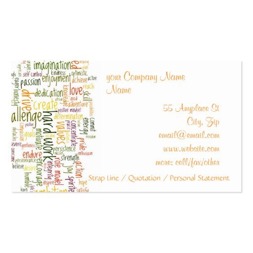 Motivational speaker business card templates bizcardstudio motivational words 2 business cards colourmoves