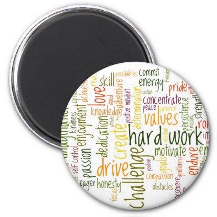 Motivational Words #2 fridge magnet Fridge Magnet