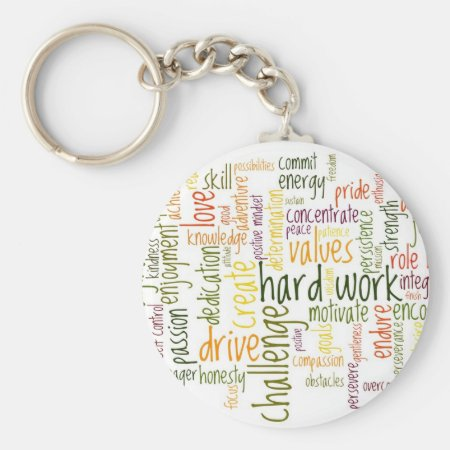 Motivational Words #2 keychain