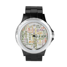 Motivational Words #2 positive attitude Wristwatch