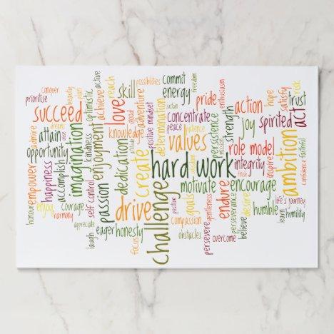 Motivational Words #2 positive encouragement Paper Pad