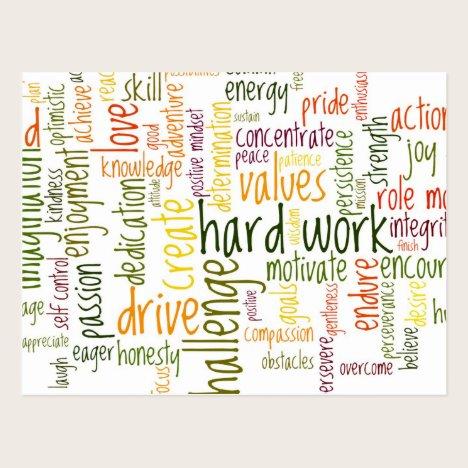 Motivational Words #2 positive encouragement Postcard