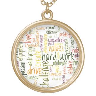 Motivational Words #2 positive encouragement Round Pendant Necklace