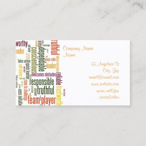 Motivational Words #4 Business Card