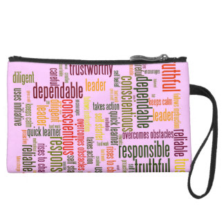Motivational Words #4 interview boost Suede Wristlet Wallet