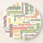 Motivational Words #4 positive values Coasters