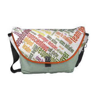 Motivational Words #4 positive values Messenger Bag