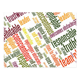 Motivational Words #4 positive values Post Card