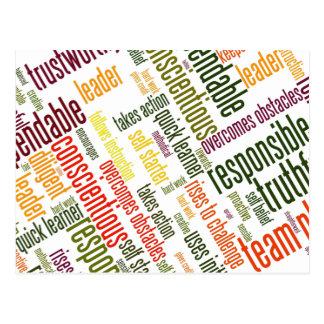 Motivational Words #4 positive values Postcard