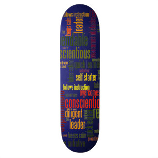 Motivational Words #4 positive values Skateboard