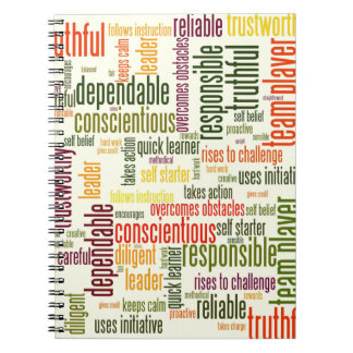 Motivational Words #4 positive values Spiral Notebook