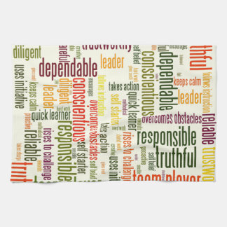 Motivational Words #4 positive values Towel