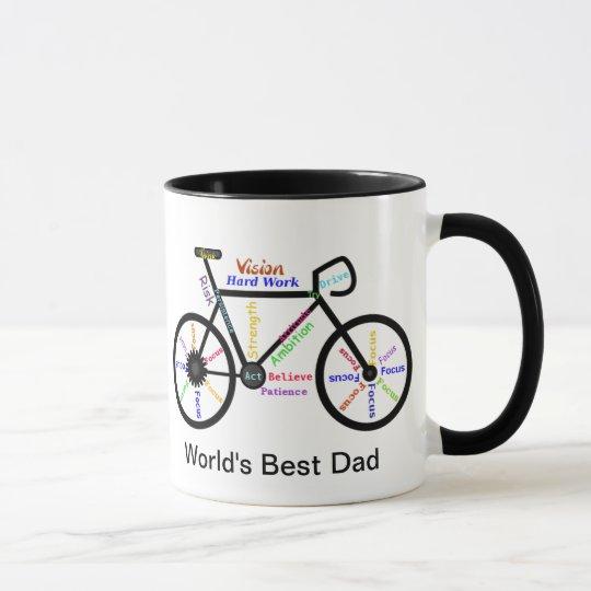 Motivational Words Bike, Cycle Best Dad Mug