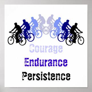Motivational Words Biking Cycling Bike Print