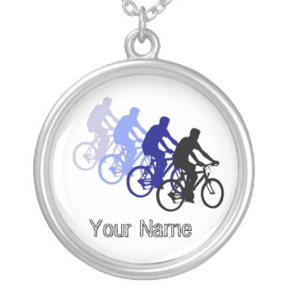 Motivational Words, Biking, Cycling, Bike Silver Plated Necklace