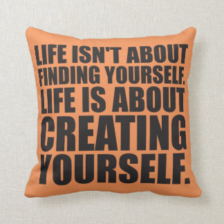 Motivational Words - Create Yourself Throw Pillow