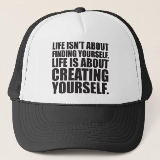 Motivational Words - Create Yourself Trucker Hat