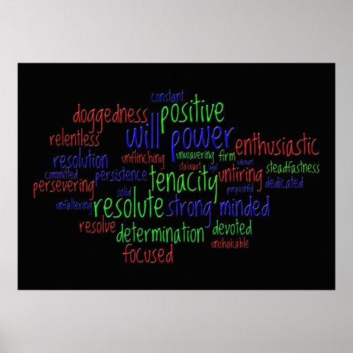 Motivational Words Encouraging a Positive Attitude Print