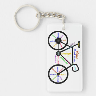 Motivational Words for Bike, Cycle Enthusiasts Keychain