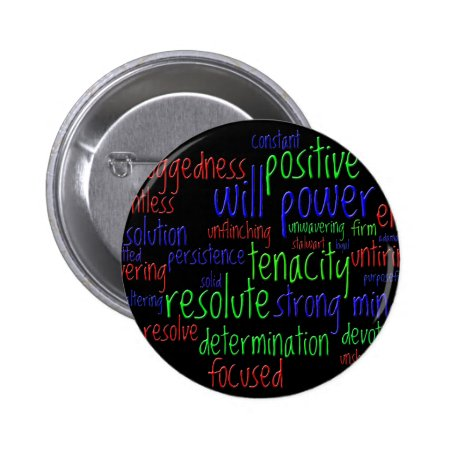 Motivational Words for New Year, Positive Attitude Button