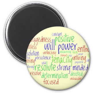 Motivational Words for New Year, Positive Attitude Magnet