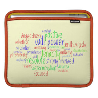 Motivational Words for New Year, Positive Thinking Sleeves For iPads