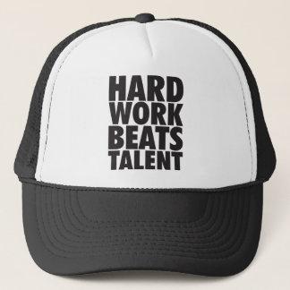 Motivational Words - Hard Work Beats Talent Trucker Hat