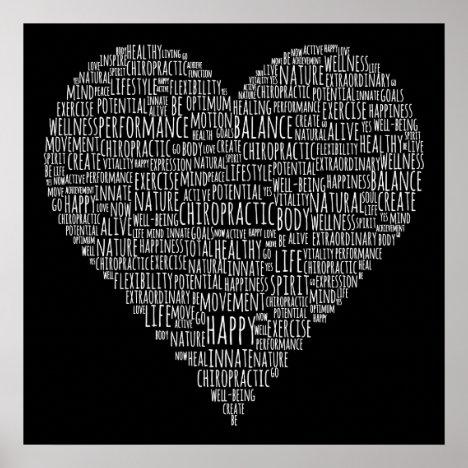 Motivational Words Heart Chiropractic Poster