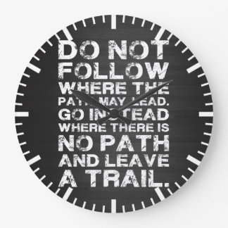 Motivational Words - Path Large Clock