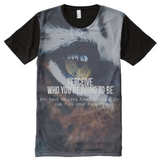 Motivational Words - Perceive and Visualize All-Over Print T-shirt