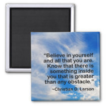 Motivational Words Quote | Believe in Yourself Magnet