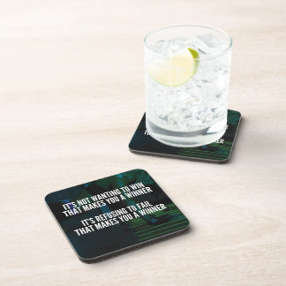 Motivational Words - Refuse To Fail - Workout Beverage Coaster