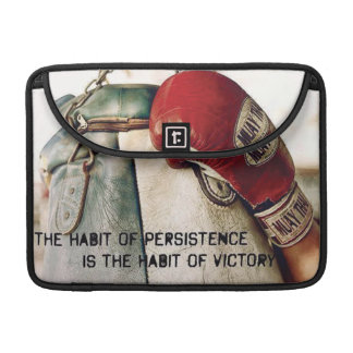 Motivational Words - The Habit of Persistence Sleeves For MacBooks