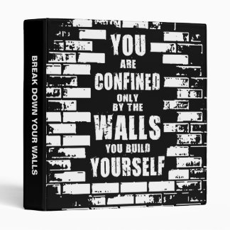 Motivational Words - Walls - Workout Motivational 3 Ring Binder
