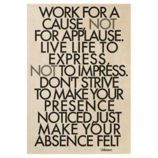 Motivational Words Wood Poster