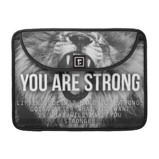 Motivational Words - You Are Strong Sleeve For MacBooks