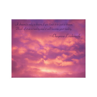 Motivational Wrapped Canvas with Pink Sunset