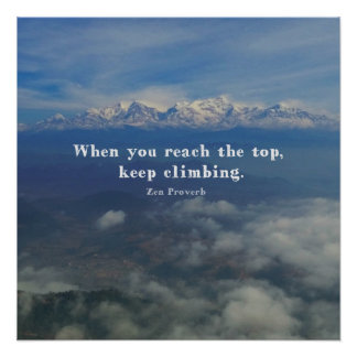 Motivational Zen Proverb about Challenges Poster