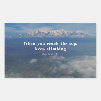 Motivational Zen Proverb about Challenges Rectangular Sticker