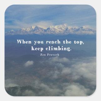 Motivational Zen Proverb about Challenges Square Sticker