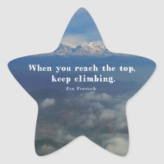 Motivational Zen Proverb about Challenges Star Sticker