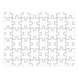 Motive for puzzle postcard