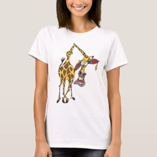 Motive: merry giraffe with earring and gold tooth T-Shirt