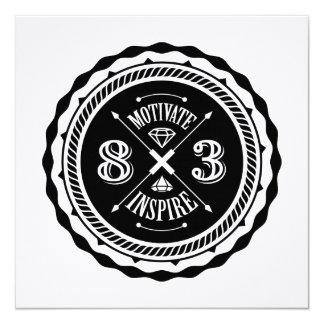 Motive y inspire - el cuadrado invita a la tarjeta invitación 13,3 cm x 13,3cm