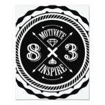 Motive y inspire - invite a la tarjeta (blanca) invitaciones personalizada